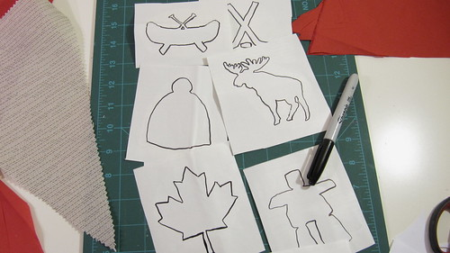 3. DIY Project: Canada Day Pennant Bunting: Prepare Your Stencils