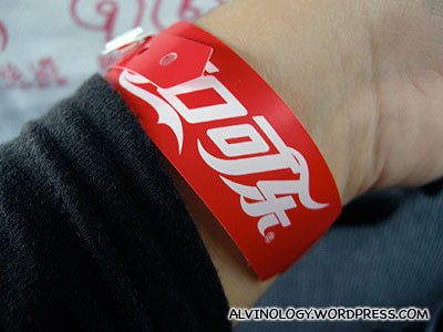 Tagged as a member of the Coca-Cola entourage