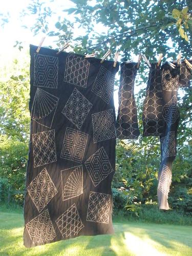Sashiko Fabric is Stitched