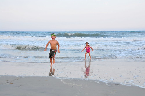 Tristan and Kenna at Topsail Beach