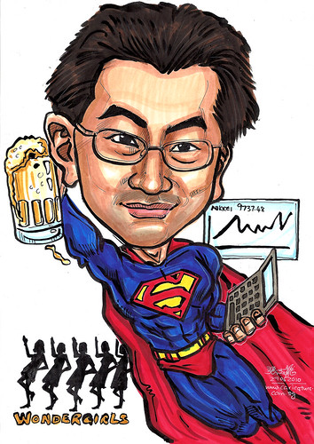 Superman caricature for Russell Reynolds
