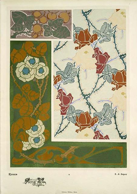 002-Rosas-Les fleurs et leurs applications decoratives 1902- Eugene Alain Seguy