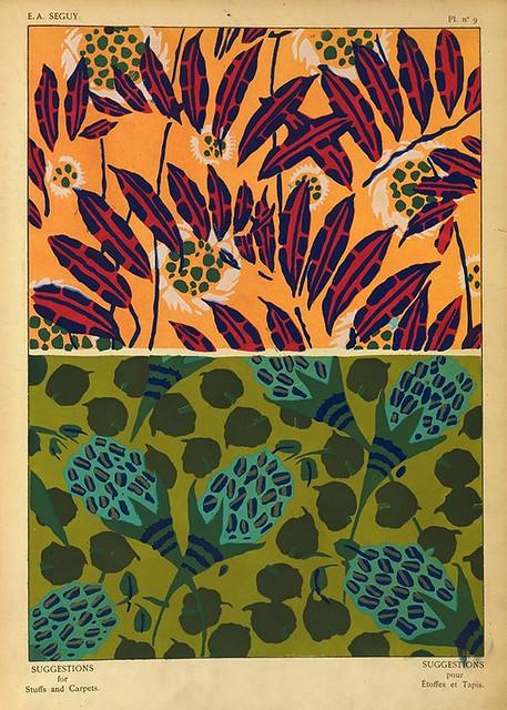 034-Suggestions pour étoffes et tapis 60 motifs en couleur 1927- Eugene Alain Seguy