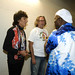 Ron Wood, Eric Clapton and Buddy Guy at Eric Clapton's Crossroads Guitar Festival at Toyota Park on June 26, 2010 in Bridgeview, Illinois.
