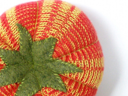 Heirloom Tomato Pincushion by Machete Designs
