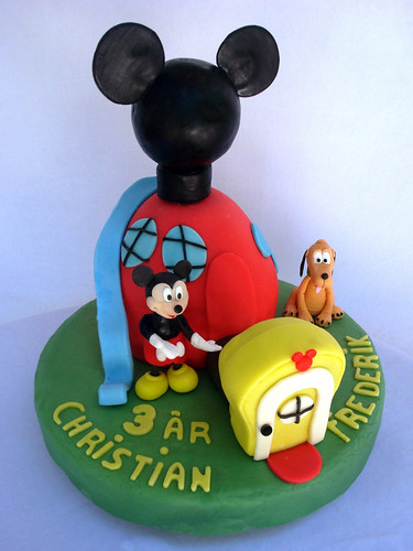 Mickey Mouse Playhouse cake-Tarta.