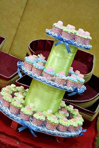 Mini Cupcakes on Tiers