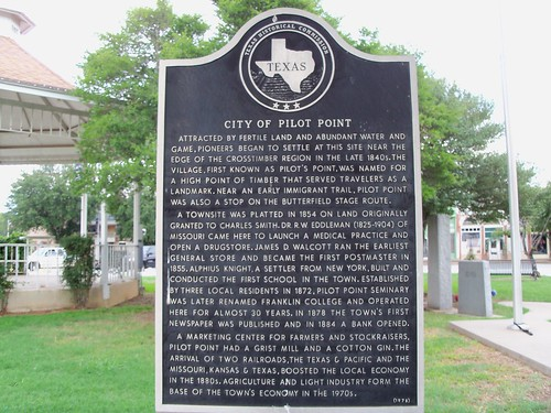 City of Pilot Point, Pilot Point, Texas Historical Marker by fables98