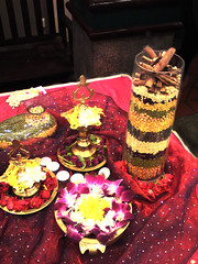 tabletop deco (Art Fountain) Tags: wedding decorations party table gold colours top indian theme ware