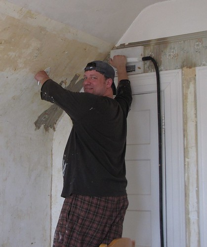 Removing Wallpaper from Mike's Office