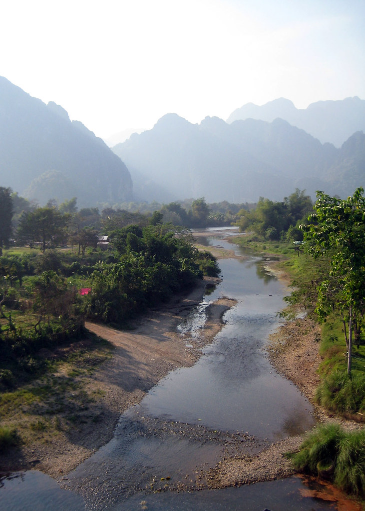 River and mountains, Vang Vieng