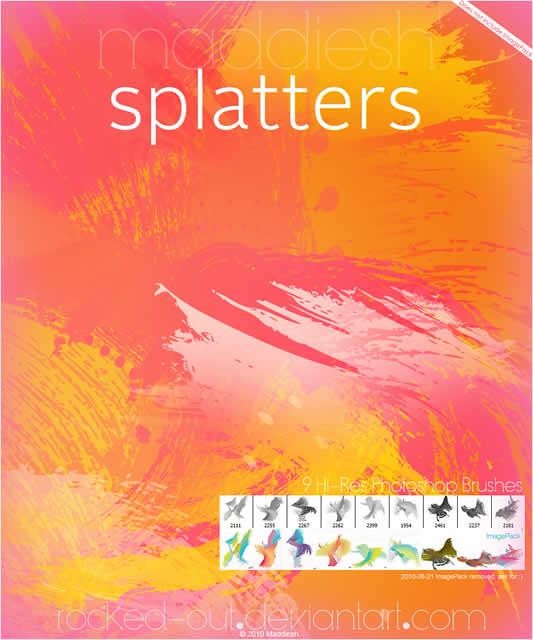 PS Brush-19 ColorSplatters - Pulsa en la imagen para descargar