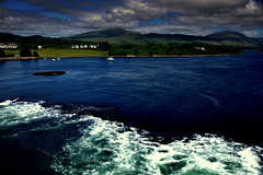 Oban Scotland (Deborah Valentin) Tags: trees mountains water clouds scotland boat aqua oban loch current triptoskye nicolasvalentin deborahstalter
