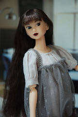 A Carefree Ivie (Girl Least Likely To) Tags: fashion toys dolls ooak vinyl etsy ccs paulina sekiguchi momoko japanesetoys jiajia ivie princesspeach asiandolls closeclippedsheep darkcherry deepplum clearlan