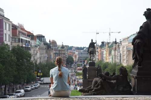 Looking over Wenceslas Square