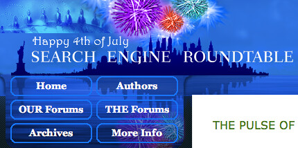 Search Engine Roundtable July 4th Logo
