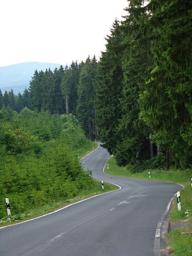 Bumpy roads in the Harz