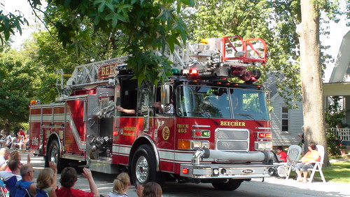 Beecher Fire Department at Beecher Independence Day Parade