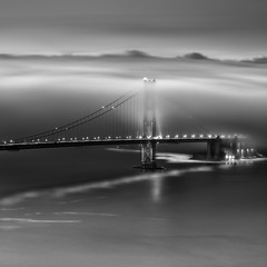 __/|\_ (maxxsmart) Tags: sanfrancisco california longexposure winter blackandwhite bw seascape broken fog sunrise reflections landscape lights bay cityscape explore pacificocean goldengatebridge archives bayarea marincounty fortpoint frontpage marinheadlands 2010 overcome mycomputersucks ef70200f4lusm canon5dmarkii lee9ndgrad