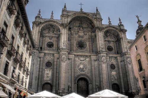 Cathedral facade. Granada. Fachada de la catedral