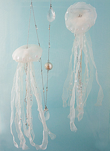 jellyfish necklace & brooch