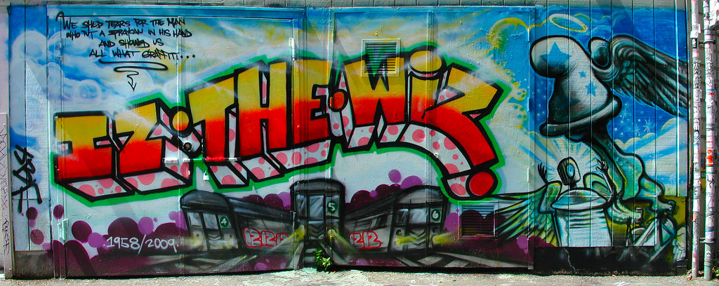 IZ THE WIZ, R.I.P., Graffiti, Street Art, San Francisco,