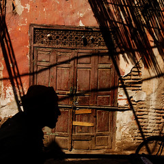 Moroccan shadow (Olivier Th) Tags: pictures africa street city blue roof light shadow people orange sun man color colour men green grass canon religious soleil photo colorful place shot image photos minaret muslim islam picture myfav mosque ombre unesco marakesh morocco lumiere maroc marocco marrakech maghreb medina marrakesh colourful capture marruecos personne couleur thao oldcity ville hommes homme worldheritage reportage marrocos afrique religieux musulman marakech priere vieilleville maroco croyant patrimoinemondial marraquech 40d abigfave hommededos marrahesh