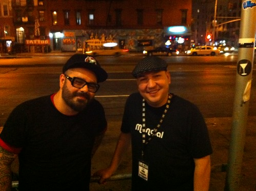 Raul & Chico Mann outside the Mercury Lounge after the show
