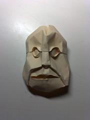 Viejuno a media sonrisa (Jorge.Gracia) Tags: origami mask mascara