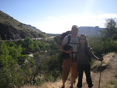 Jim & Aimee Hiking to Canal Zone, Clear Creek Canyon