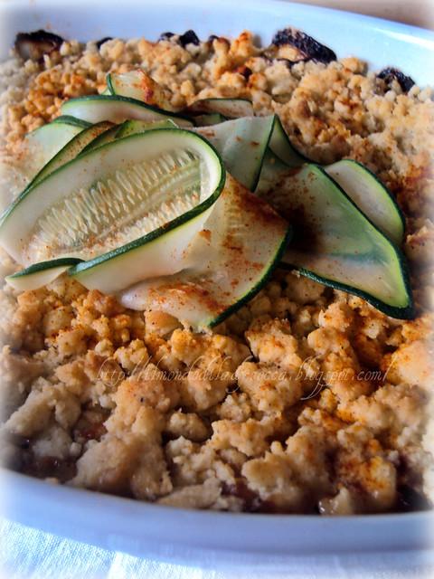 crumble di zucchine