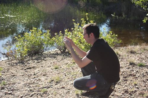 Eric filming