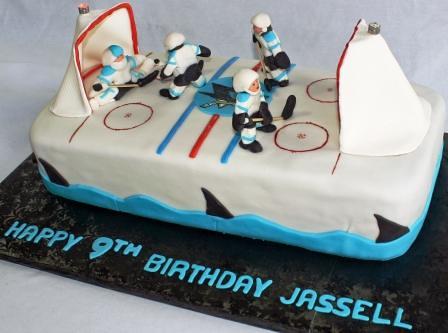 Peachy San Jose Sharks Hockey Rink 9Th Birthday Cake A Photo On Flickriver Funny Birthday Cards Online Inifofree Goldxyz