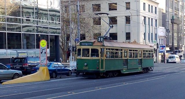 W-class tram on Latrobe St