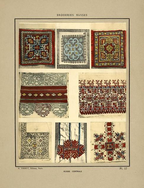 004- Adornos de camisas-Rusia del norte-Broderies russes tartares armeniennes 1925