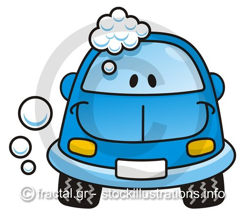 cartoon car wash clip art. cartoon car wash clip art. Happy blue cartoon car washing
