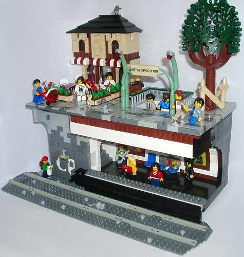 lego subway train instructions