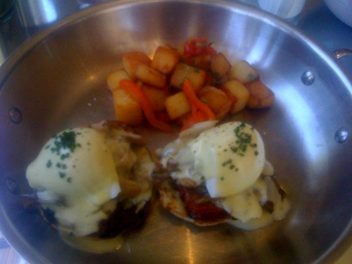 Eggs Benedict at Adhoc in Yountville
