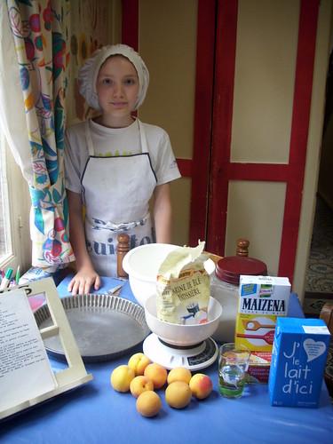 les ingrédients de la tarte aux abricots
