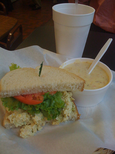 Chicken salad and potato soup from Lisa's Lunchbox