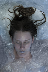 Wrapped in Plastic (evilibby) Tags: blue cold wet girl dead bathroom sand pale plastic human crime twinpeaks murder libby 365 laurapalmer wrappedinplastic deadgirl bluelips 365days 3653 shesdeadwrappedinplastic twinpeakstribute laurapalmertribute