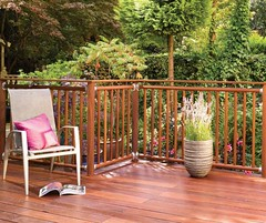 Contemporary Round Spindle Hardwood Deck (Richard Burbidge) Tags: decks decking deckrailing deckboards wooddecking gardendecking richardburbidge deckingbalustrade deckingrails deckingbalustrades