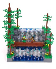 robinhood5 (Shmails) Tags: castle robin john river waterfall lego little hood collectible minifigure forestman