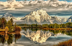 Mount Moran in the Morning (Jeff Clow) Tags: morning reflection landscape bravo raw snakeriver wyoming mountmoran tetons grandtetonnationalpark oxbowbend 1exp jacksonholewyoming nikond700 nikkor2470mmf28 hdrfascinantrachedmiladitunisie coupdecoeurrachedmiladi