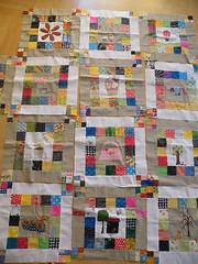 my bee blocks (monaw2008) Tags: quilt squares handmade bee swap block patchwork applique monaw monaw2008 eurobeeblock