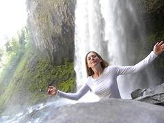 myra at tamanawas falls by Tillica -