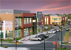 the commercial gym with retail building in background (courtesy of Perry Rose)