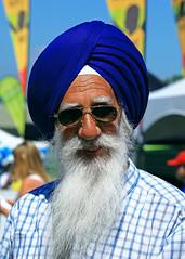 Portrait of a Sikh Gentleman (gordeau) Tags: man beard bc britishcolumbia surrey gordon turban sikh gentleman hollandpark ashby flickrchallengegroup flickrchallengewinner thechallengefactory surreyfusionfestival gordeau