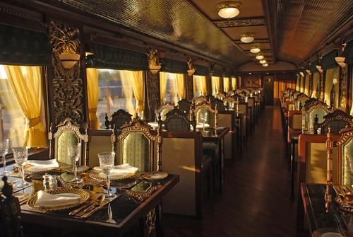Maharajas' Express - Mayur Mahal, dining