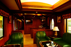 Maharajas' Express - Rajah Club (Train Chartering & Private Rail Cars) Tags: indiantrain privatetrain privaterailcar chartertrain traincharter trainchartering privatecarriage luxurytravel luxurytrain luxurytrainclub indianluxurytrain maharajasexpress